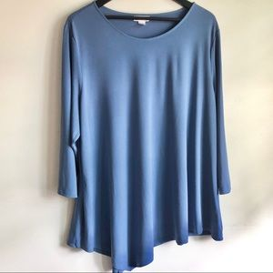 Jaclyn Smith Blue L/S Top, Sz 2X, Great Condition